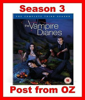The Vampire Diaries: Complete Season 3 - Brand New R4 DVD Set-Series Three Third