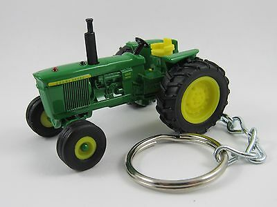 1971 1972 John Deere JD Model 4620 Farm Tractor Green Key FOB Keyring Keychain