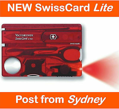 Victorinox SwissCard Lite *Ruby Swiss Army Knife Pocket Card