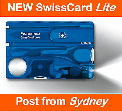Victorinox SwissCard Lite *Blue Swiss Army Knife Pocket Card
