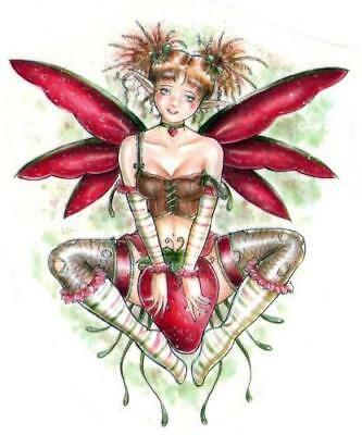 NEW Delphine Levesque Demers Strawberry Fairy Vinyl Sticker Decal