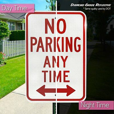 Reserved Private Property No Parking Anytime Aluminum Metal Sign