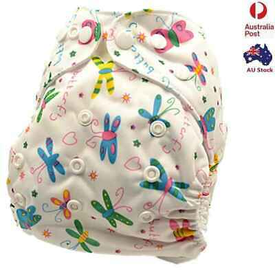 New Girly Adjustable Reusable Waterproof Multi-fits Modern Cloth Nappies (D124)