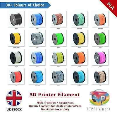 PLA 3D Pen Filament & 1.75mm Premium 3D Printer Filament (10 metres) 30+ Colours