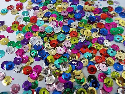 2800pcs+  ( 8mm ) 50g CUP Round Sequins - Metallic Assorted Colors / Mixed