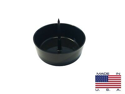 Bowl Poker Ashtray with Cleaning Spike / Pipe Cleaner - Black