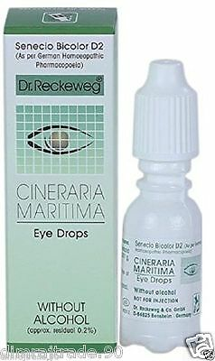 DR RECKEWEG CINERARIA MARITIMA EYE DROPS Without Alcohol 10ml.