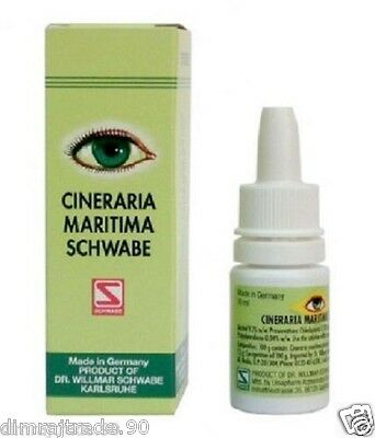 Schwabe Cineraria Maritima Eye Drops With Alcohol Made In German 10ml