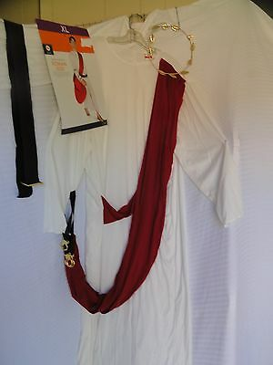 Roman God Adult Costume Size XL Off White/Red