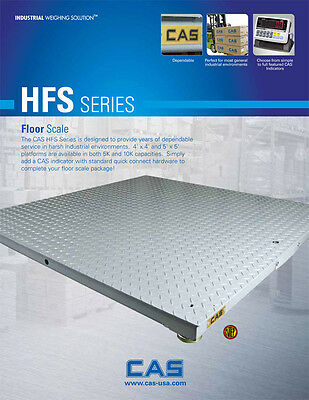 CAS Floor Scale 5K capacity-Commercial Scale, Warranty and Live Support