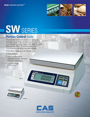 CAS Scale SW Series Portion Control Scale w/Dual Display 50lb---SW-1D50**Full Ye