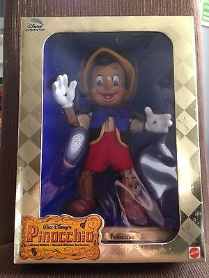 Disney Pinocchio Limited Edition Genuine Wooden Marionette Mattel #20845