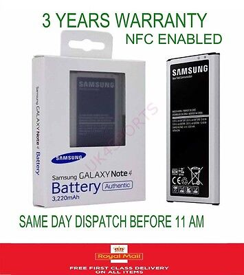 Official Genuine 3220 mAh Battery for Samsung Galaxy Note 4 SM-N910 With NFC