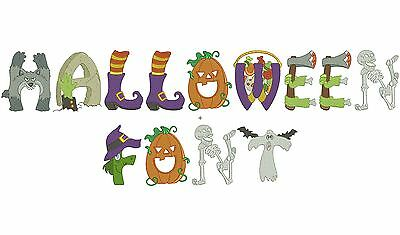 Halloween Alphabet - 26 Machine Embroidery Designs - 3 Sizes - Impcd114