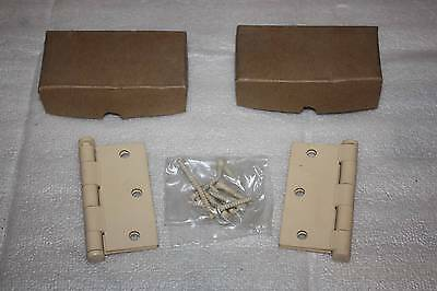 "Butt Door Hinges NOS Primed for Painting 2 pair 3"" x 3"" NSN 5340-664-1328"