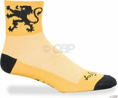 Sockguy Calze classiche Multicolore Lion of Flanders Yellow/Black Grande/X-Large