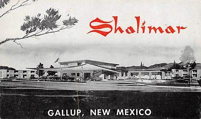 GALLUP, New Mexico   SHALIMAR MOTEL    Route 66    Roadside    c1960's Postcard