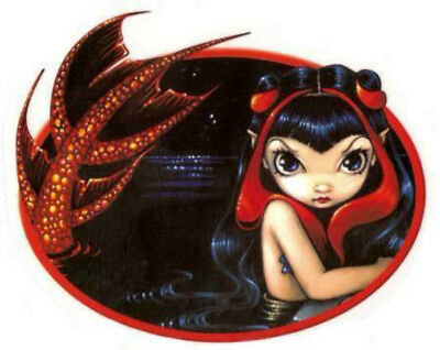 NEW Jasmine Becket-Grffith Red Tailed Mermaid Vinyl Car Sticker Decal