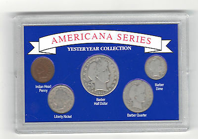 Americana Serie Yesteryear Collection Silver Barber Half Dollar Quater Dime More