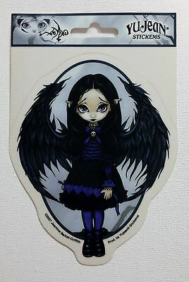 NEW Jasmine Becket-Griffith Purple Paper Hearts Gothic Fairy Vinyl Sticker Decal