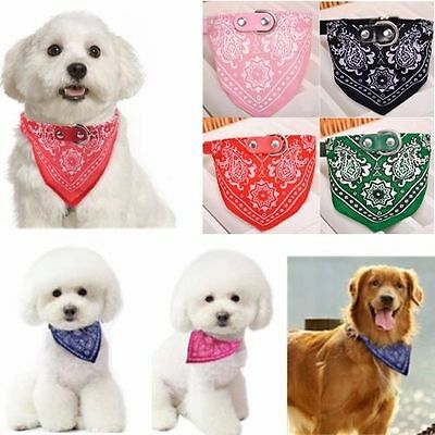 1PC Adjustable Scarf Pet Dog Puppy Cat Neck Scarf Bandana Collar Neckerchief
