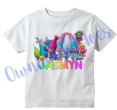Trolls Movie Custom T-shirt PERSONALIZE, Add name, Tee