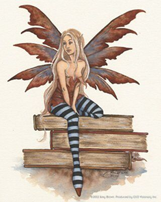 NEW Amy Brown Sticker Decal The Book Fairy Fantasy Mystical Magic