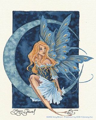 New Amy Brown Sicker Decal Moon Jewel Fairy Fantasy Mythical Magic