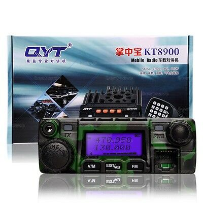 QYT KT-8900 Dual-Band 25W VHF UHF Car/Trunk Mobile Transceiver Two Way Radio CAM