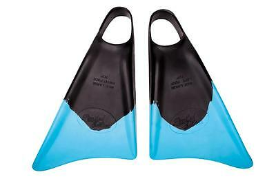 Limited Edition Black Ice Black/Cyan Bodyboard Fins/Flippers
