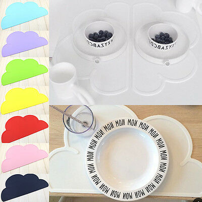 Hot Silicone Placemat Baby Clouds Shape Plate Mat Kitchen Dinning Pad Waterproof