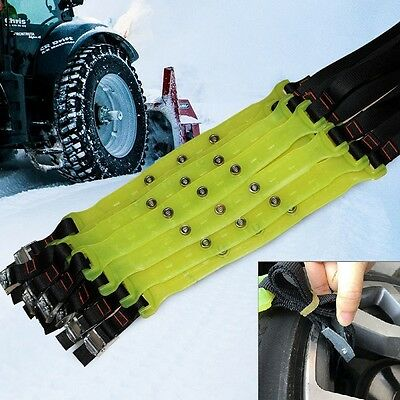 10pcs (for two tires) Car Snow Tire Chains Beef Tendon Vehicles Wheel Antisk UK
