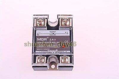 DC-DC Single Phase Solid State Relay SSR 10A 3-32V DC 5-220V DC w Plastic Cover