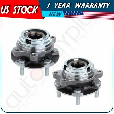 Pair 2 For 2004-2009 Nissan Quest Front Wheel Hub Bearing Assembly