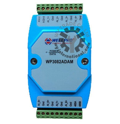 8ch 0-20MA/4-20MA Analog Input Current Collecting Module RS485 MODBUS WP3082ADAM
