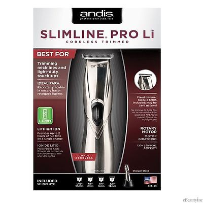 Andis SlimLine Pro Hair Trimmer Li-Ion Cord/Cordless #32400 (Model D-8), NEW