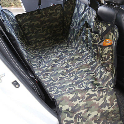 New Pet Car Seat Cover Camo Rear Seat Mat Portable Dog Travel Hammock Protector