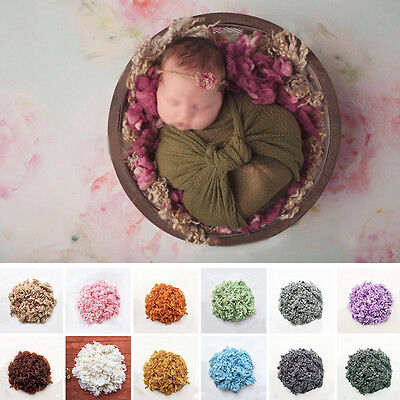 Newborn Baby Infant Wool Basket Stuffer Backdrop Mat Rug Photo Photography Prop
