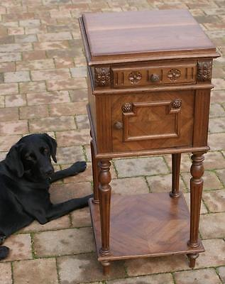 A FINE LATE 19th CENTURY FRENCH WALNUT  BEDSIDE CABINET