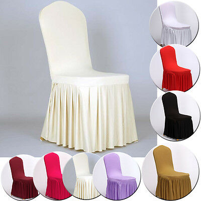 Practical Pleated Stretch Chair Cover Spandex Lycra Party Wedding Banquet Decor