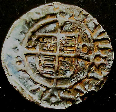 "S072: Henry VIII Hammered Silver ""Sovereign"" Penny : Bishop Tunstall, Durham"