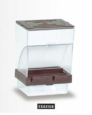 Pet Bird Big Clear Feeder Bowl with Trimmer Cupboard - Less Dirty for Birds Cage