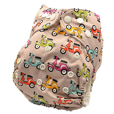 Reusable Multi-fits Modern Cloth Nappy Baby Waterproof MCN Prints Nappies (D120)