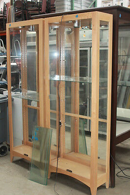 DISPLAY CASE with an Open Front & Mirror Back