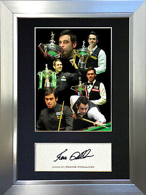RONNIE O'SULLIVAN Snooker Signed Autograph Mounted Photo Repro A4 Print no351