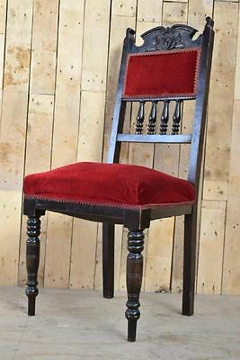 Retro Vintage Art Nouveau Single Sprung Carved Hallway Occasional Chair - Upcycl