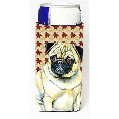 Pug Fall Leaves Portrait Michelob Ultra s For Slim Cans 12 oz.