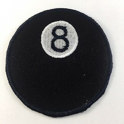 8 BALL SNOOKER POOL - SEW OR IRON ON BIKER MOTORCYCLE PATCH No-8