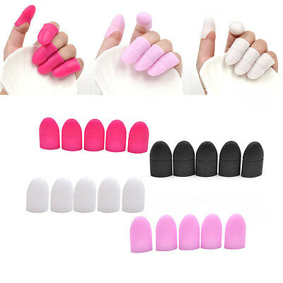 1 Set Silicone Gel Nail Soak Off Polish Wrap Cap Deco Remove Tool Craft Make-up