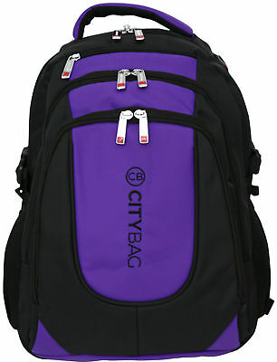 Laptop Backpack 15.6 Inch Business Bag Commuter Water Resistant Case Purple